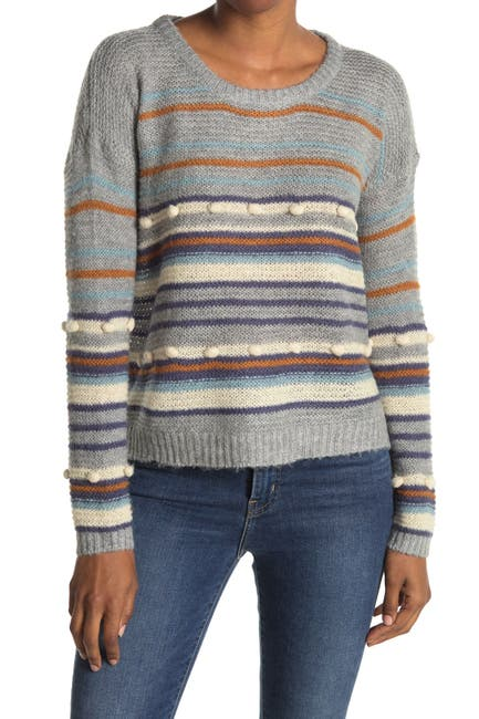 Image of Heartloom Stripe Relaxed Fit Knit Sweater