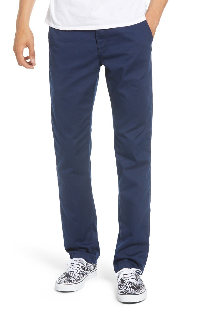 VANS Authentic Stretch Chinos, Main, color, DRESS BLUES