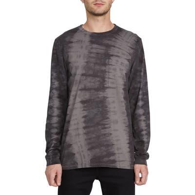 Volcom Chill Tie Dye Long Sleeve Pocket T-Shirt, Black