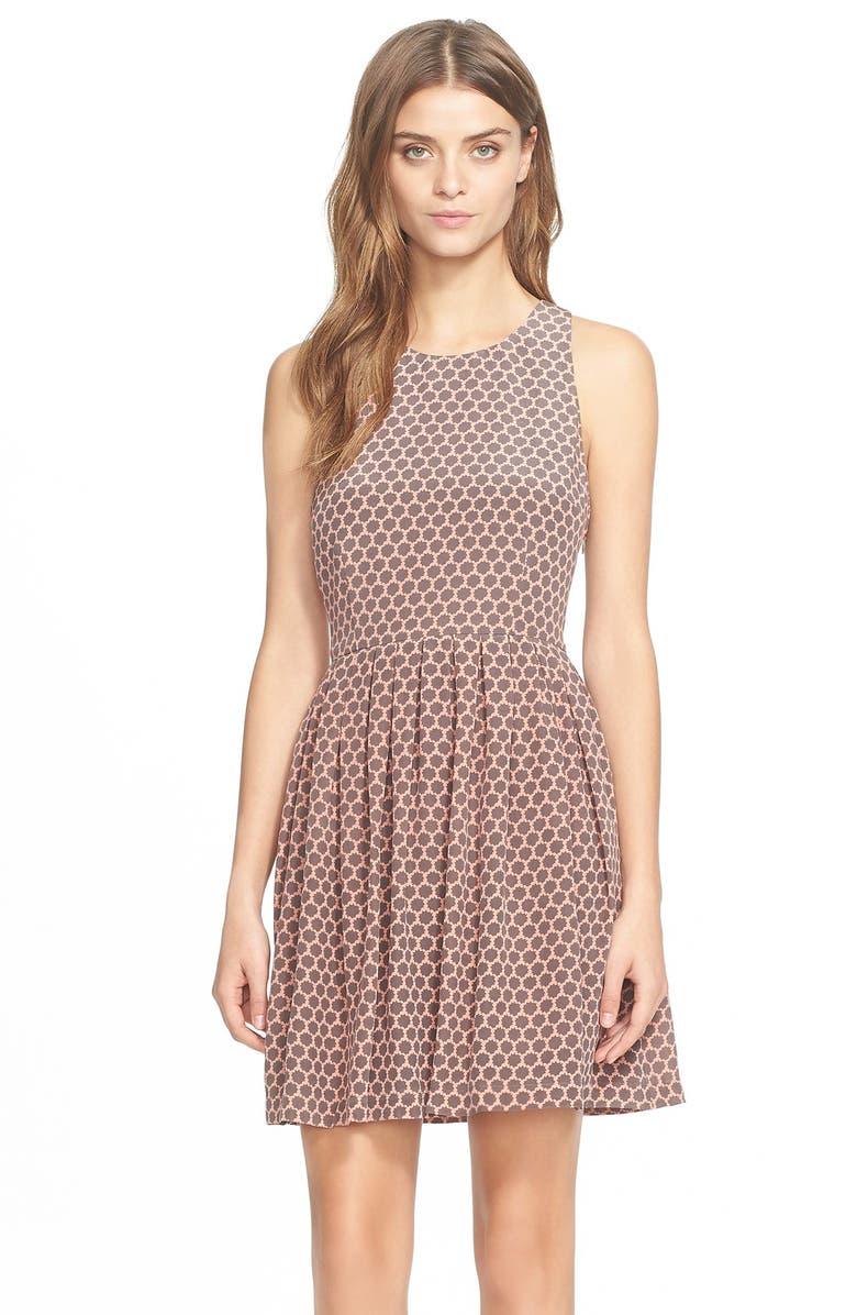 JOIE 'Bernadine' Fit & Flare Silk Dress, Main, color, 002