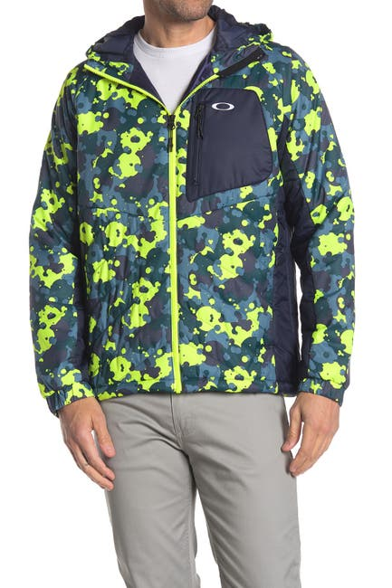 Image of Oakley Enhance Patterned Insulated Hooded Jacket