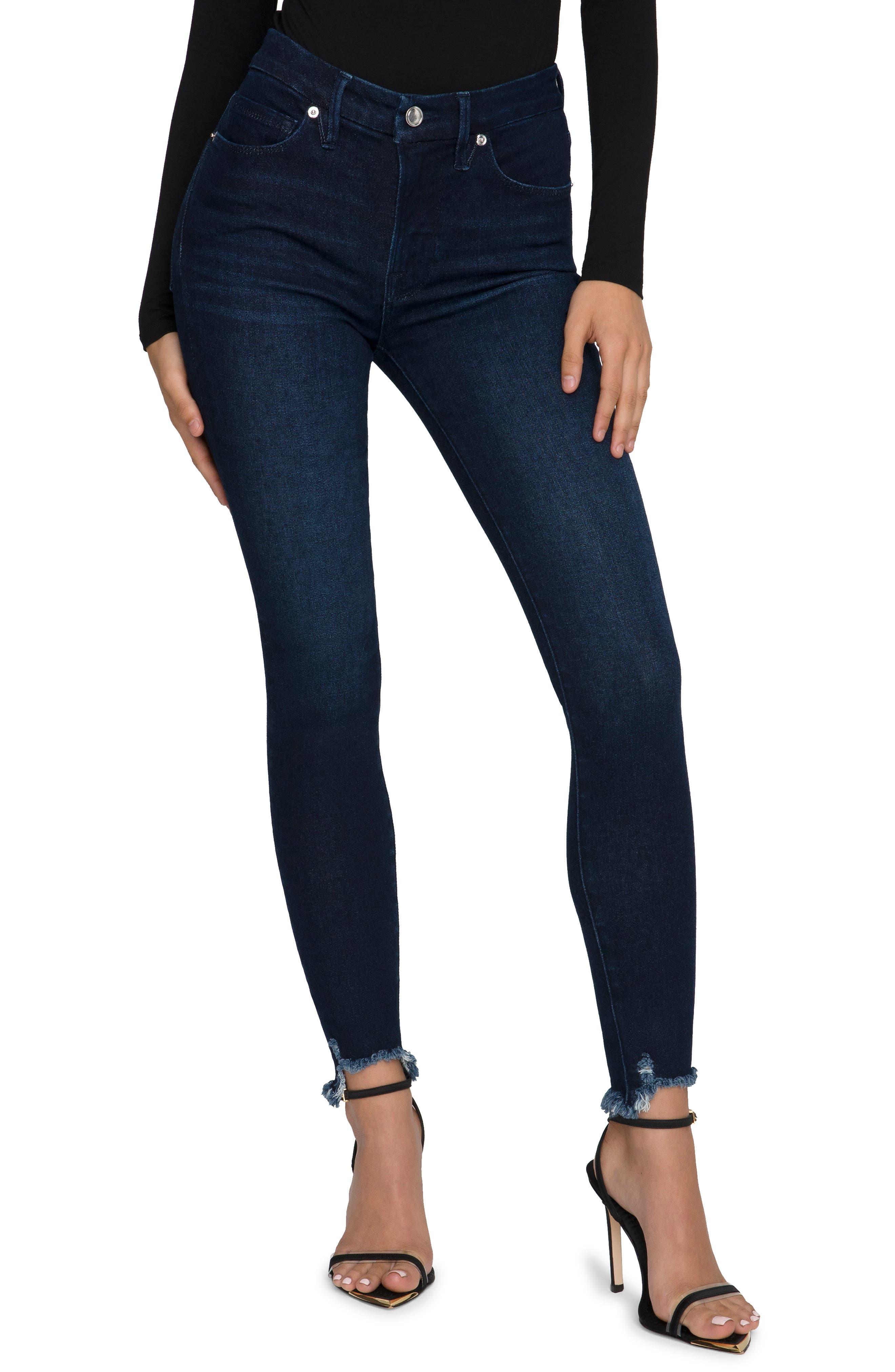 Women's Good American Good Legs Chew Back Pocket High Waist Skinny Jeans