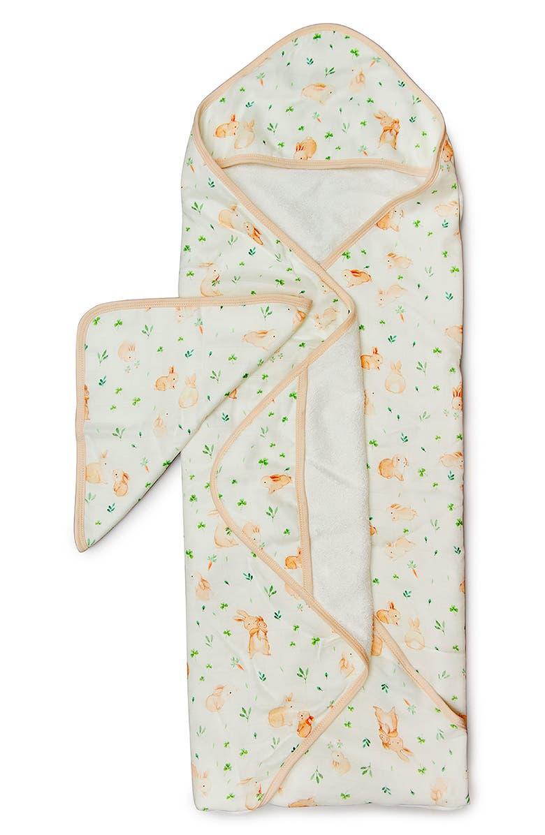 LOULOU LOLLIPOP Muslin Hooded Towel & Washcloth Set, Main, color, 110