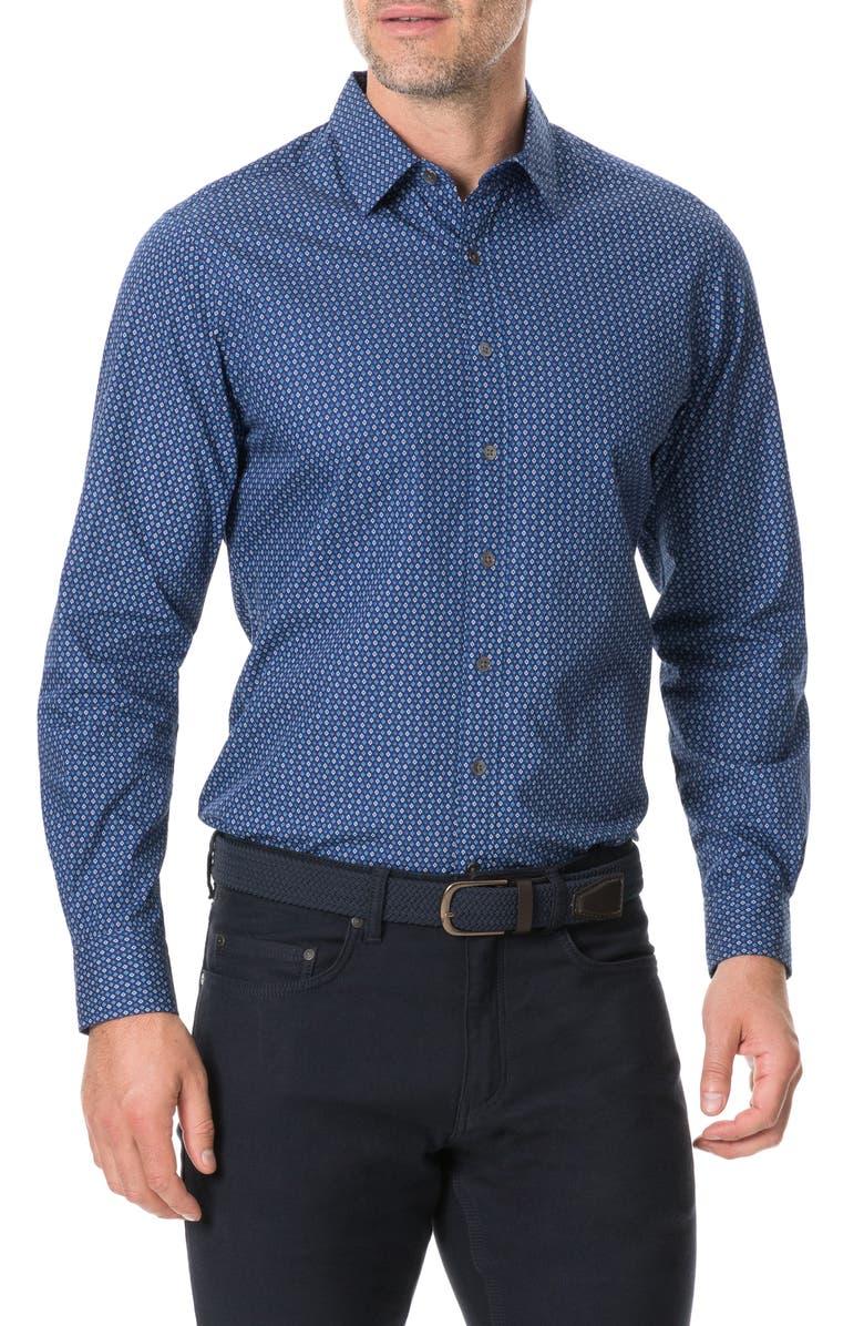 RODD & GUNN Torrance Street Regular Fit Button-Up Shirt, Main, color, MARINE