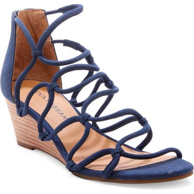 Lucky Brand Jilses Wedge Sandal, Blue