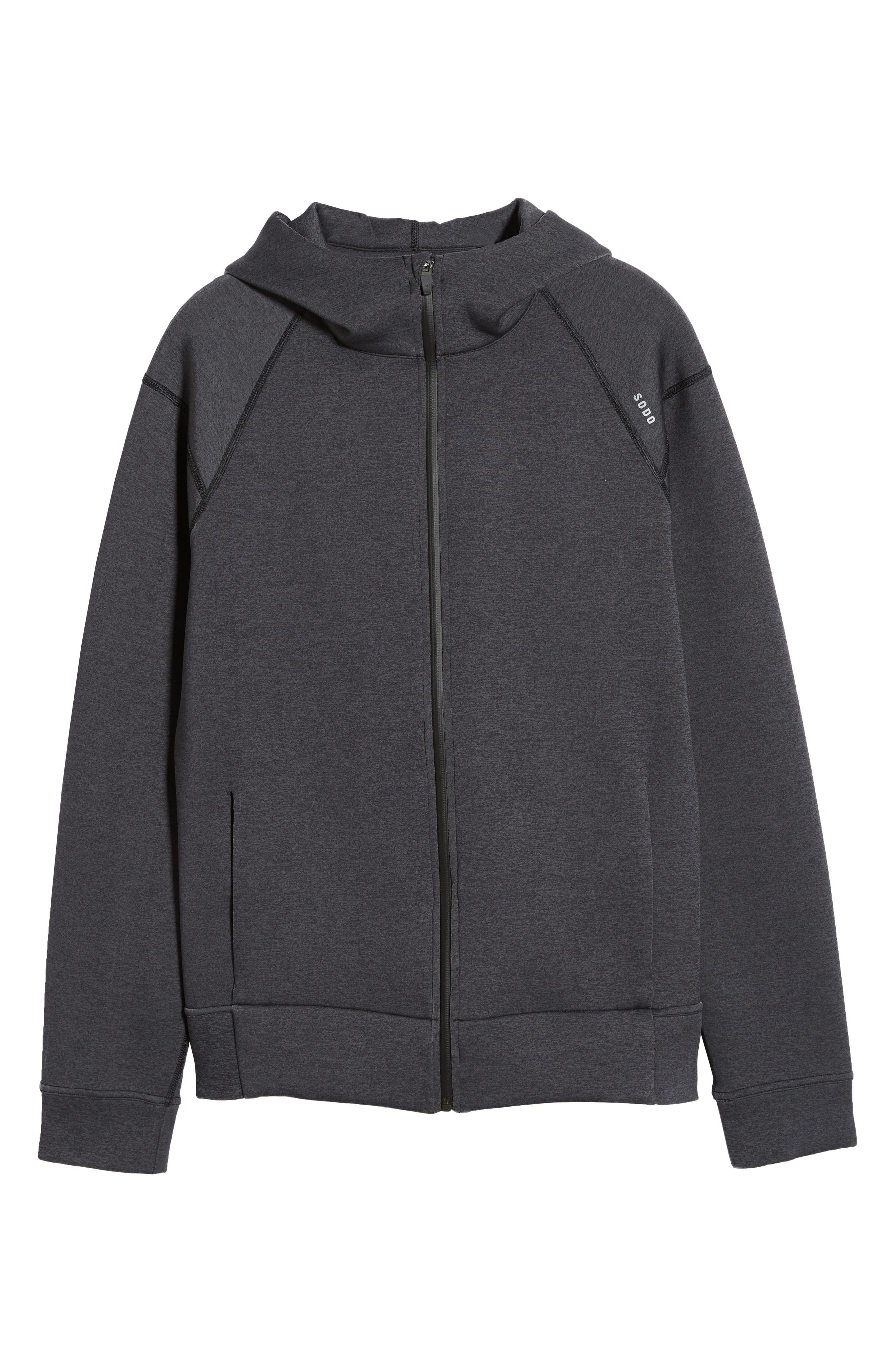 ,                             425 Tech Fleece Zip Hoodie,                             Alternate thumbnail 7, color,                             HEATHER CHARCOAL