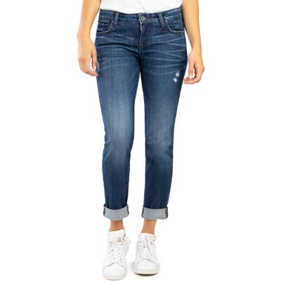 Kut From The Kloth Catherine Distressed Boyfriend Jeans, Blue