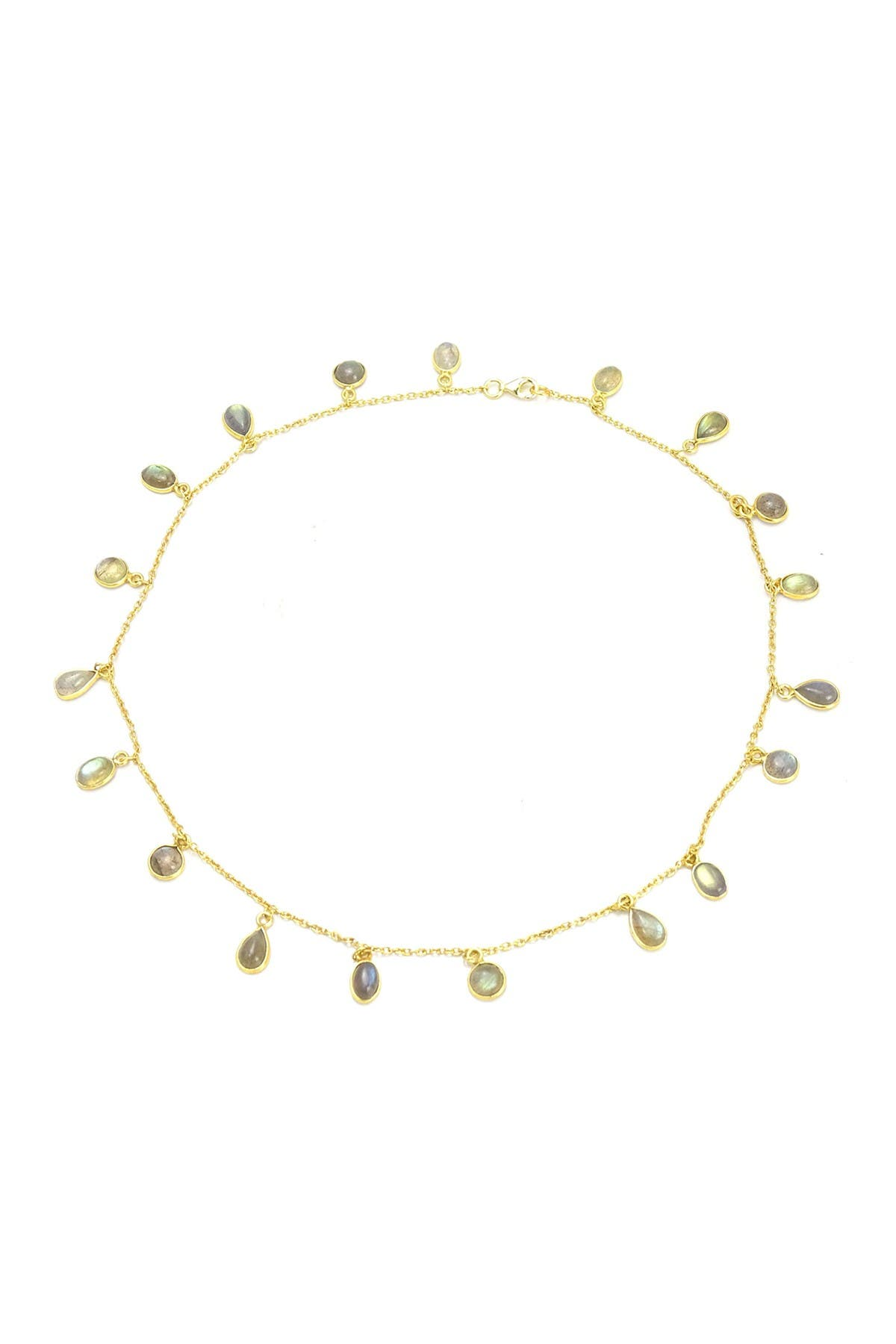 Savvy Cie 18K Yellow Gold Vermeil Riviera Gemstone Necklace at Nordstrom Rack