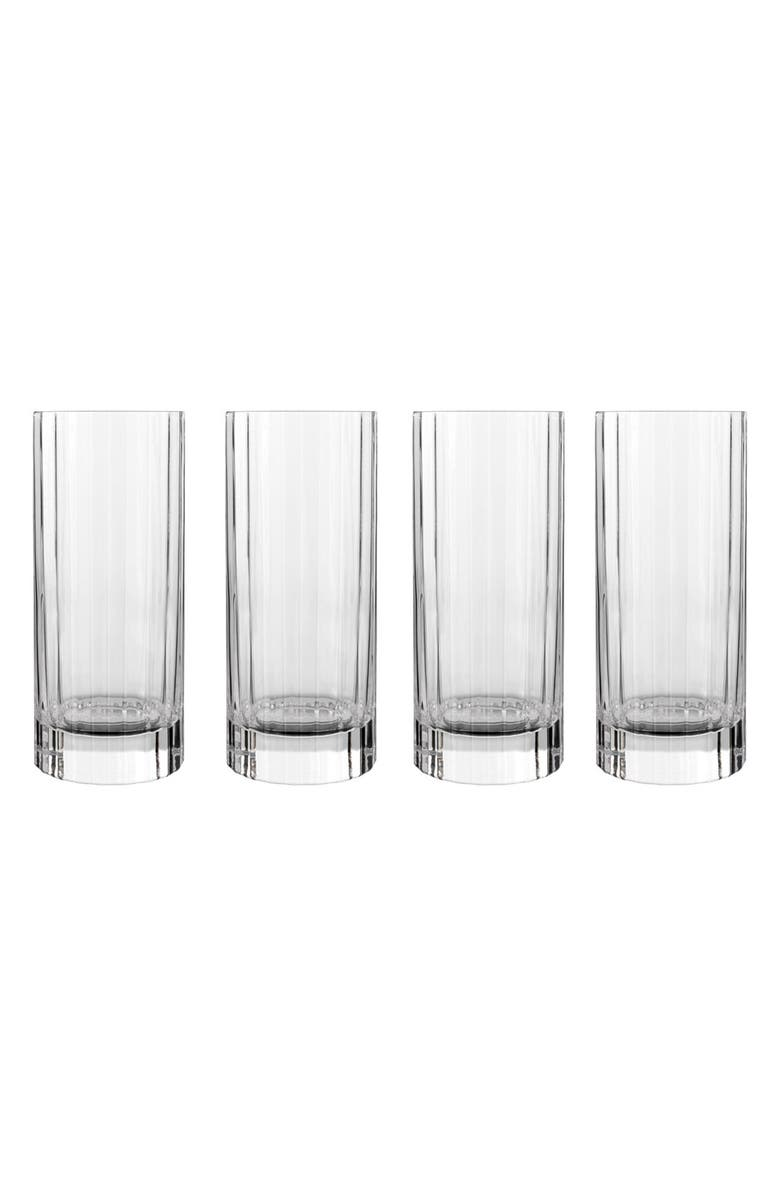 LUIGI BORMIOLI 'Bach' Beverage Glasses, Main, color, CLEAR