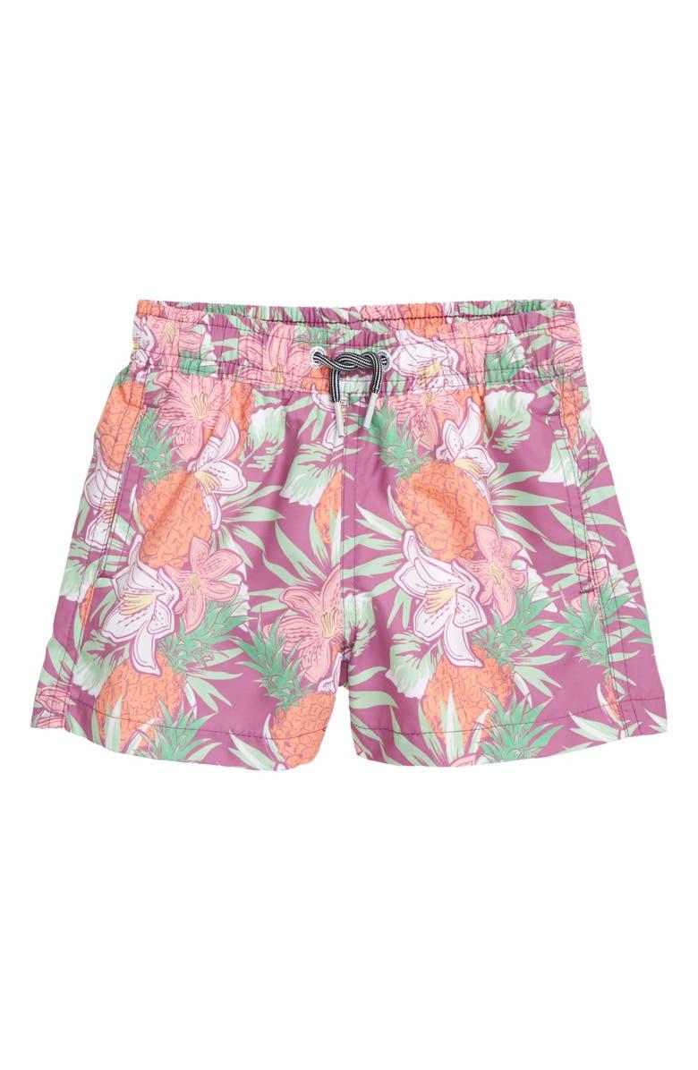 BOARDIES Aloha Swim Trunks, Main, color, PURPLE