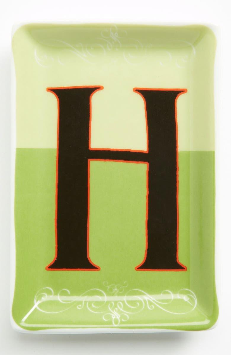 ROSANNA Porcelain Typography Tray, Main, color, 300