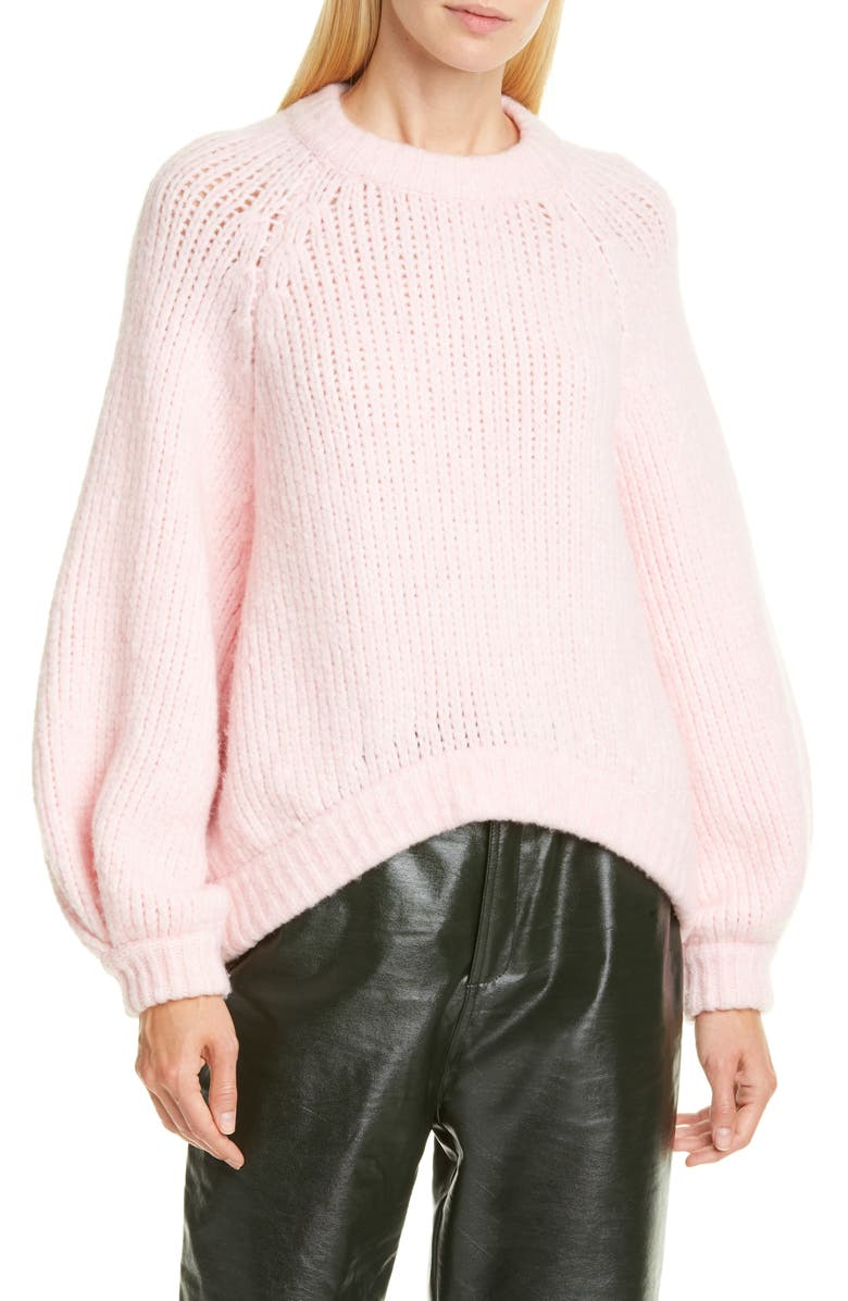 RODEBJER Onella Sweater, Main, color, LIGHT SMOKY PINK