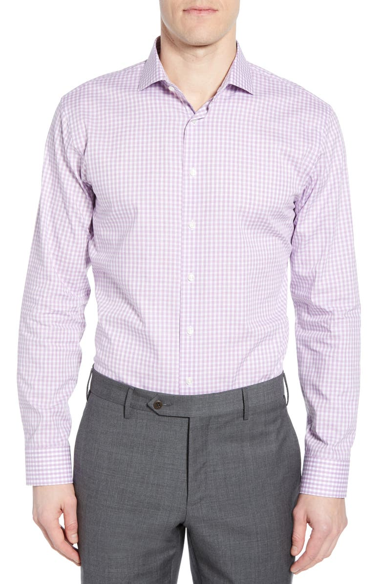 1901 Trim Fit Check Dress Shirt, Main, color, 530