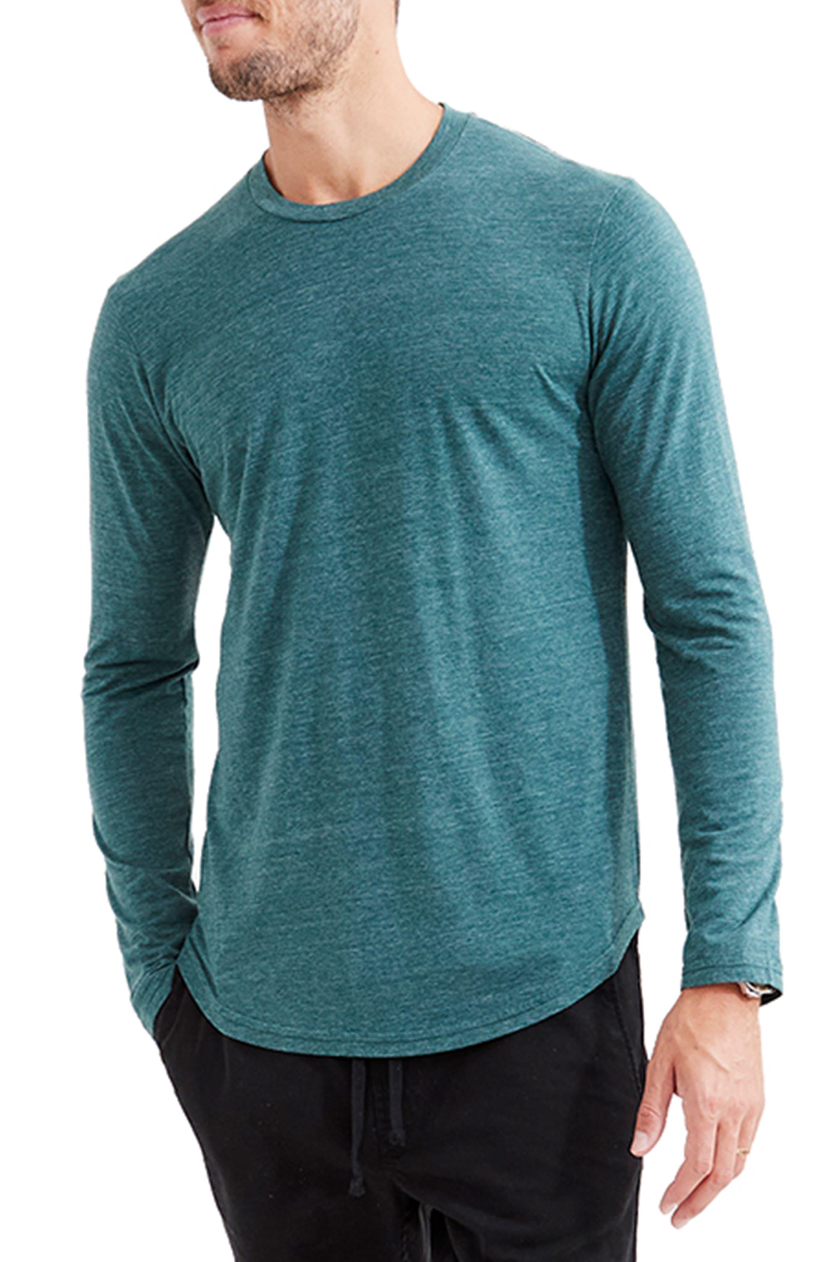 Scalloped Hem Long Sleeve T-Shirt