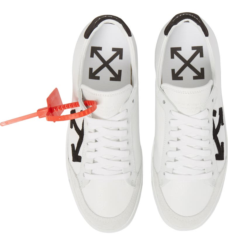 OFF-WHITE Arrow Sneaker, Main, color, WHITE BLACK