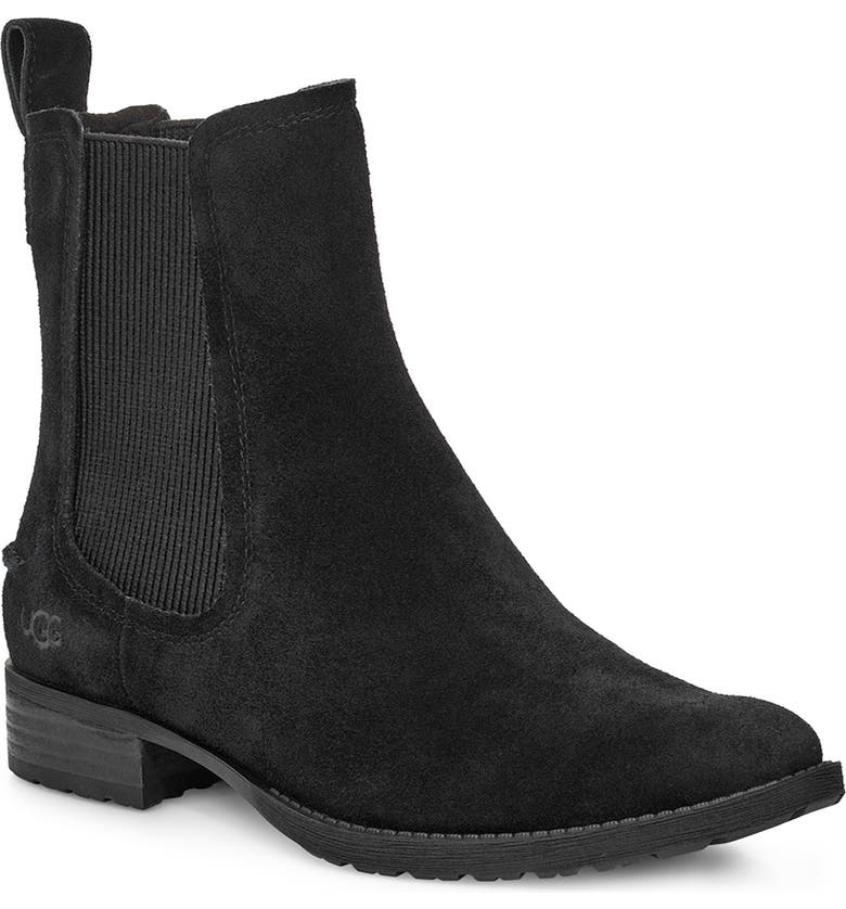 UGG<SUP>®</SUP> Hillhurst II Waterproof Chelsea Boot, Main, color, BLACK SUEDE