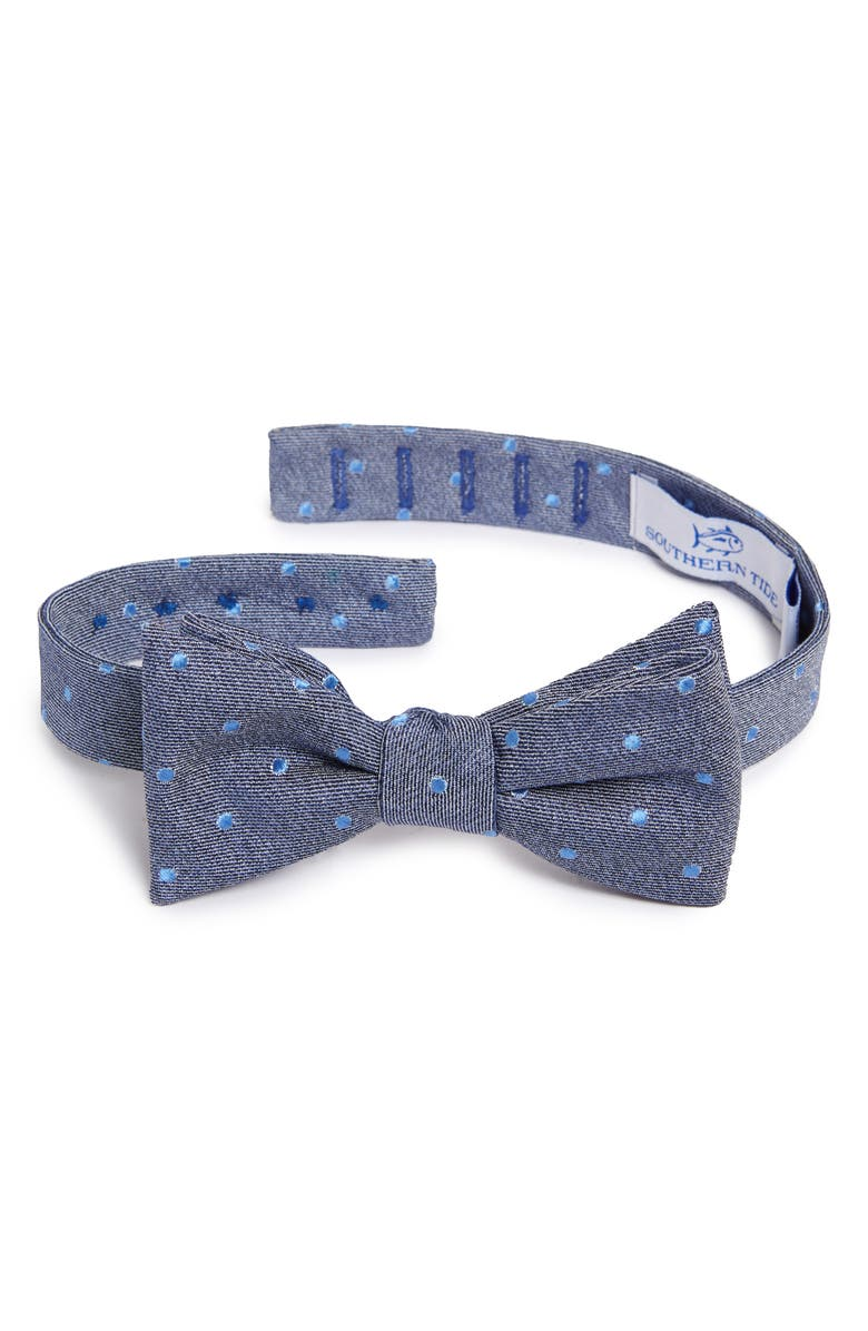 SOUTHERN TIDE Bethany Dot Cotton & Silk Bow Tie, Main, color, 410
