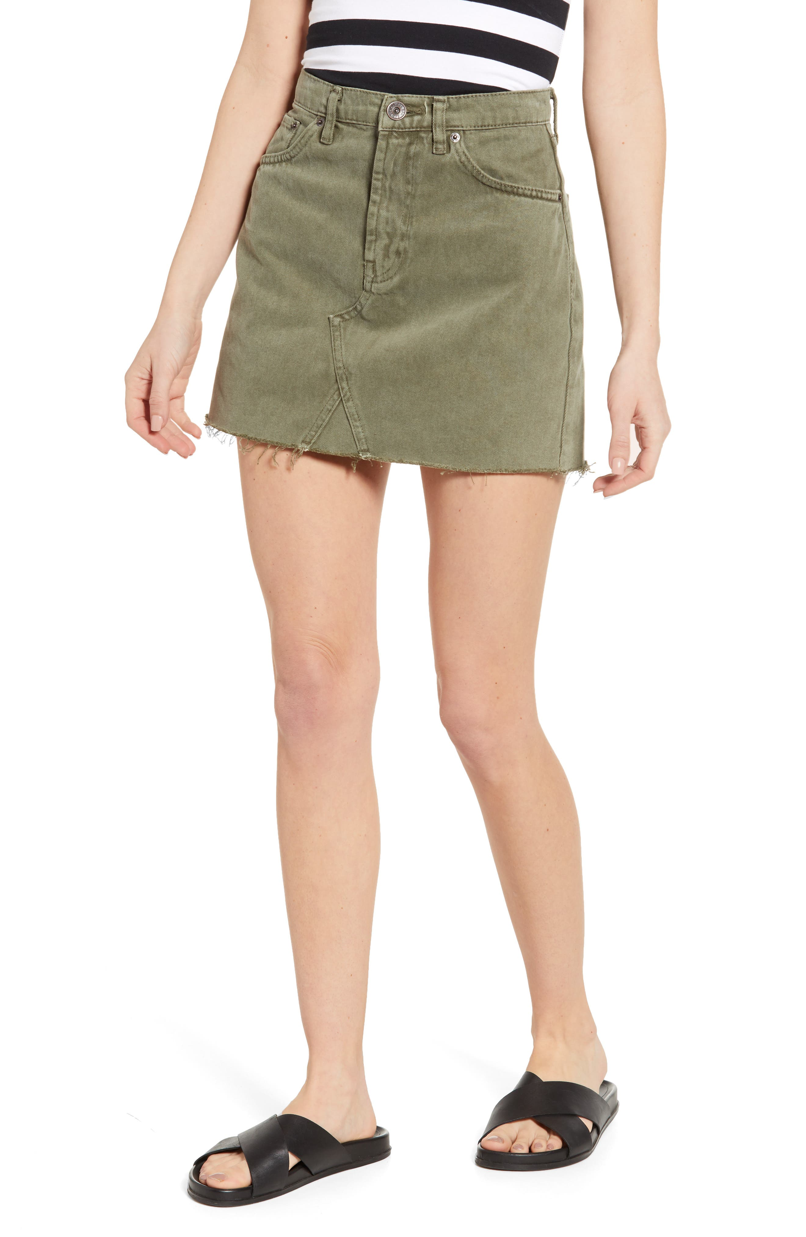 Image of BDG Austin Cutoff Denim Miniskirt