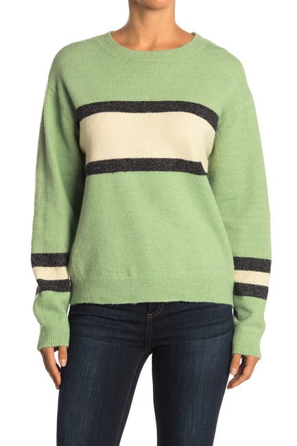 Image of Lush Stripe Print Knit Sweater