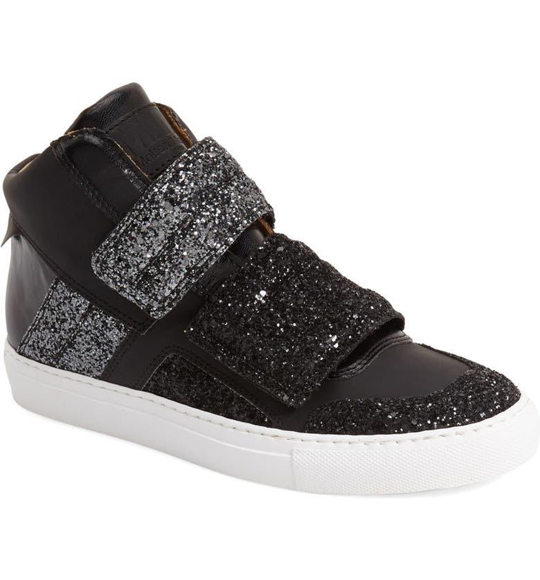 MM6 MAISON MARGIELA Glitter High Top Sneaker, Main, color, 018