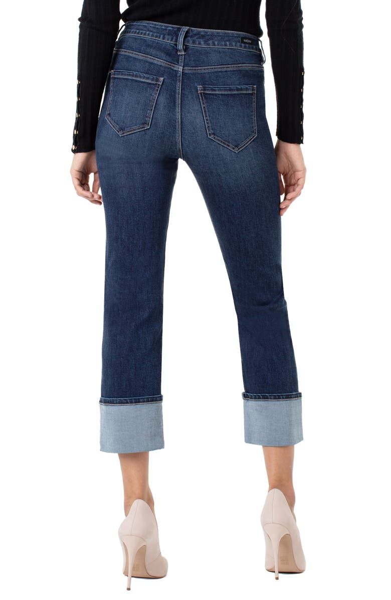 LIVERPOOL Sadie High Waist Cuffed Straight Leg Crop Jeans, Main, color, LIMA