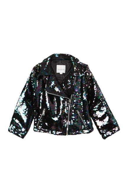 Image of Urban Republic Flip Sequin Moto Jacket