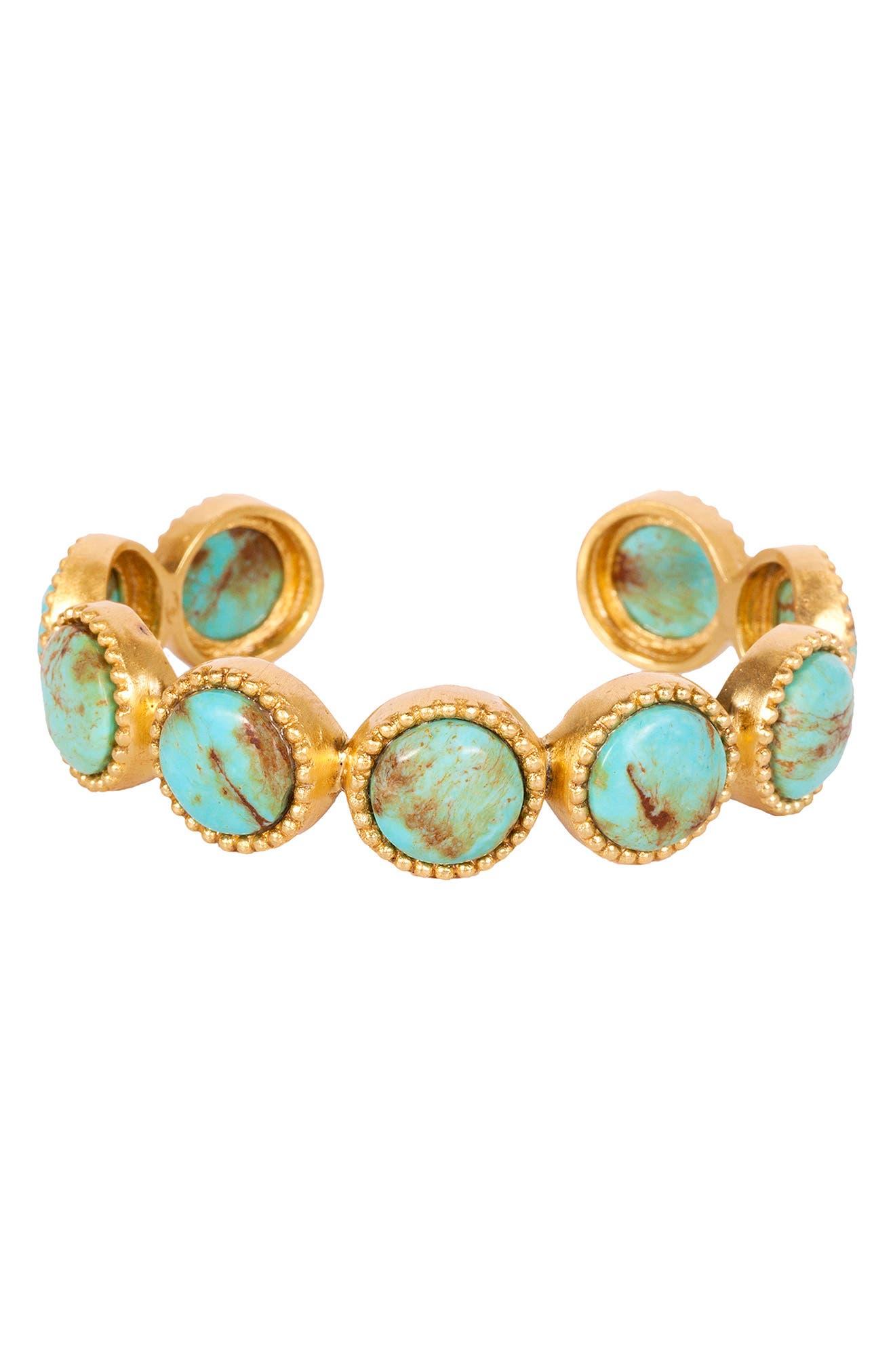 Western Blue Cuff Bracelet
