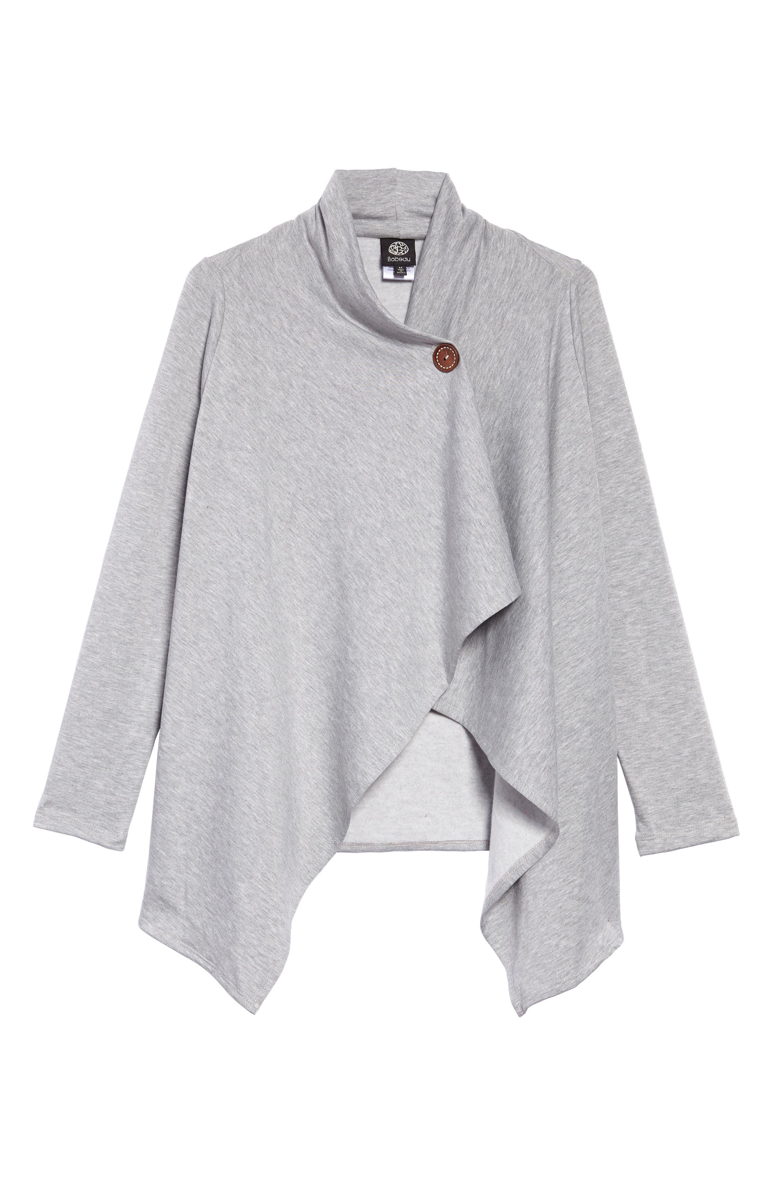 ,                             One-Button Fleece Wrap Cardigan,                             Main thumbnail 49, color,                             030