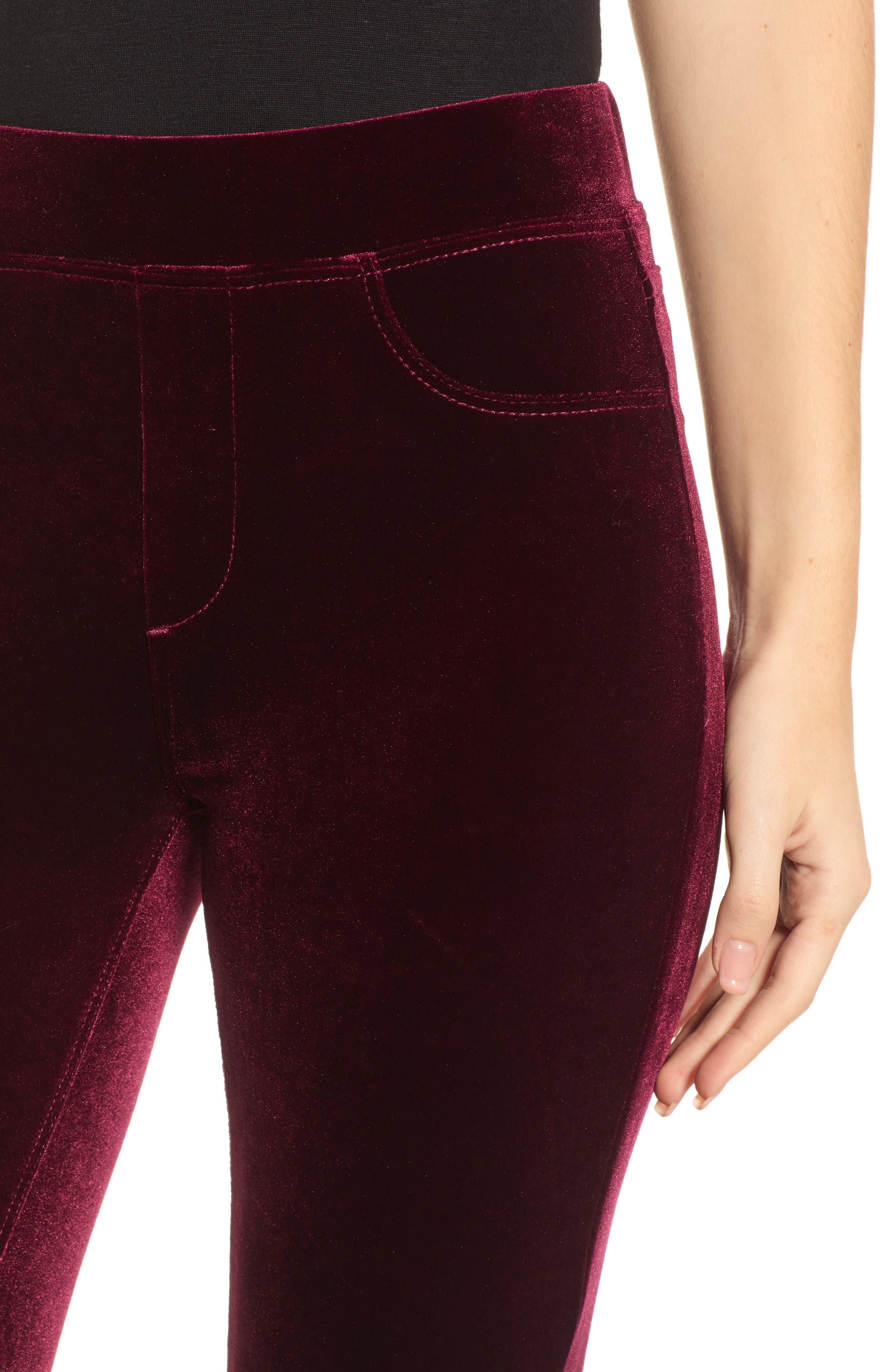 ,                             Velvet Flare Pants,                             Alternate thumbnail 5, color,                             930