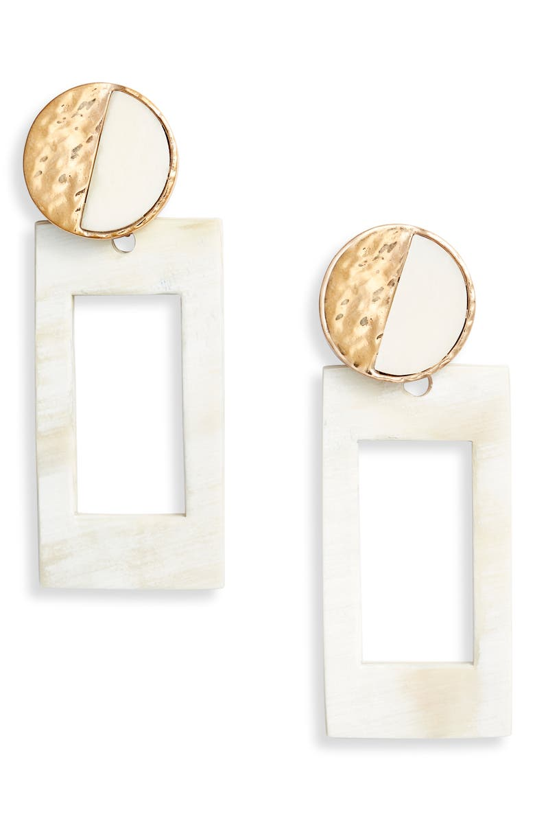 AKOLA Geometric Horn Drop Earrings, Main, color, 900