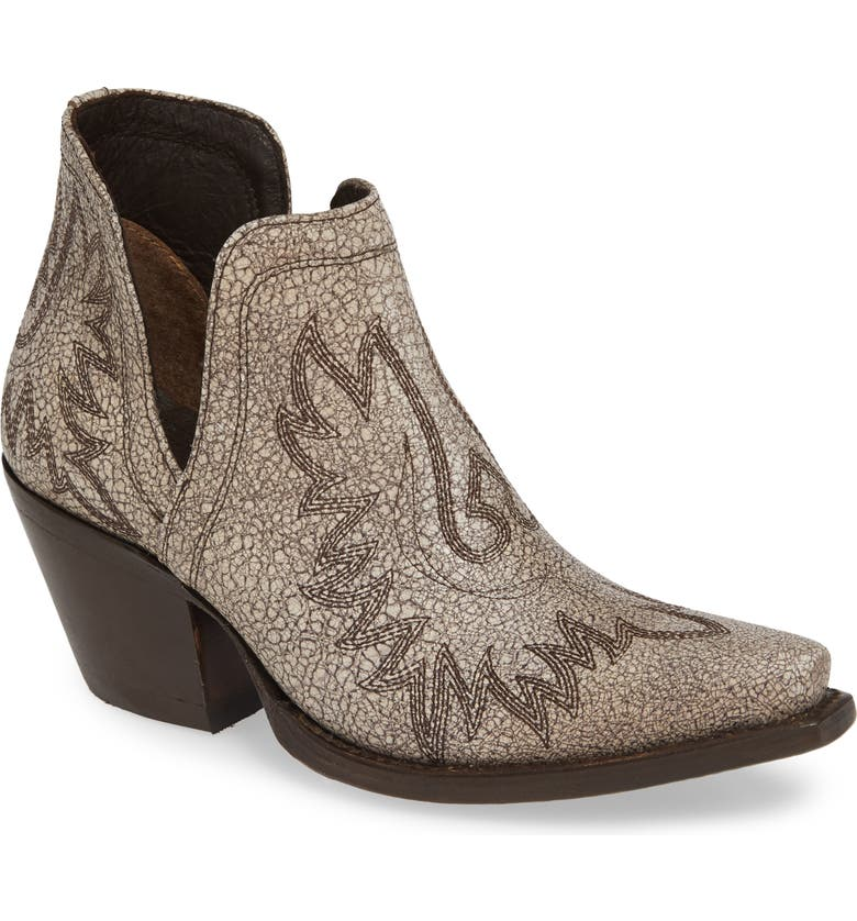 ARIAT Dixon Bootie, Main, color, BLANCO LEATHER
