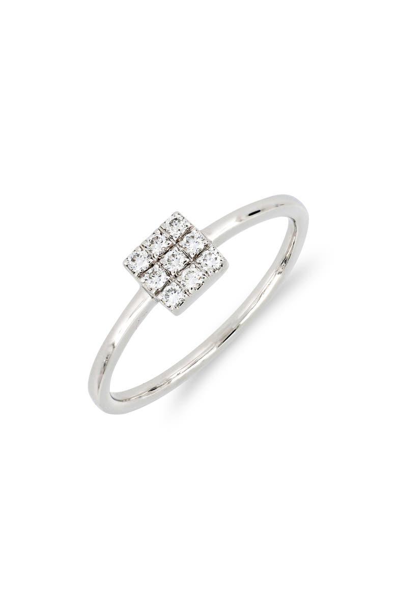 BONY LEVY Kiera Square Diamond Stack Ring, Main, color, 711