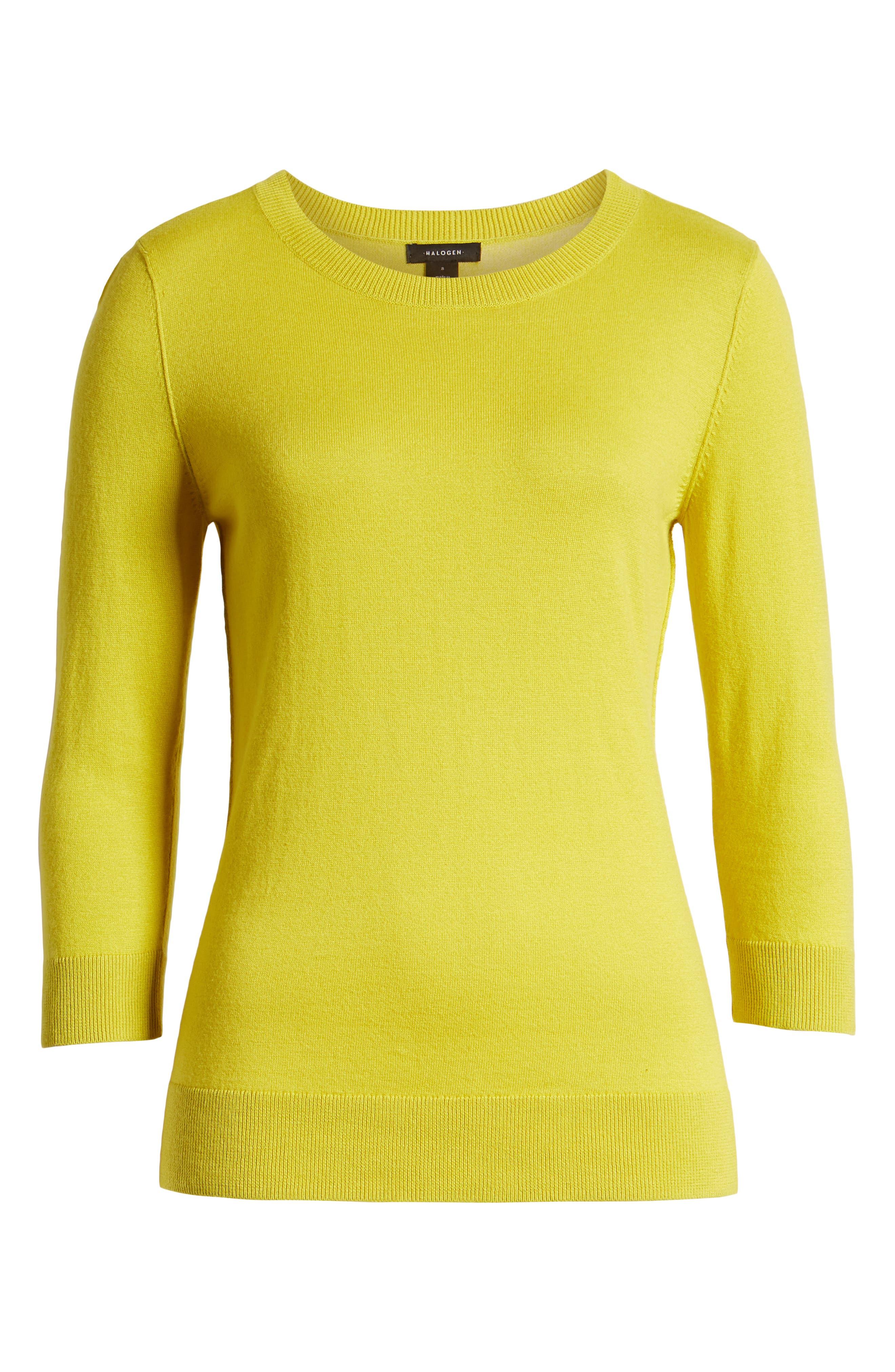 ,                             Cotton Blend Pullover,                             Alternate thumbnail 6, color,                             OLIVE WARM