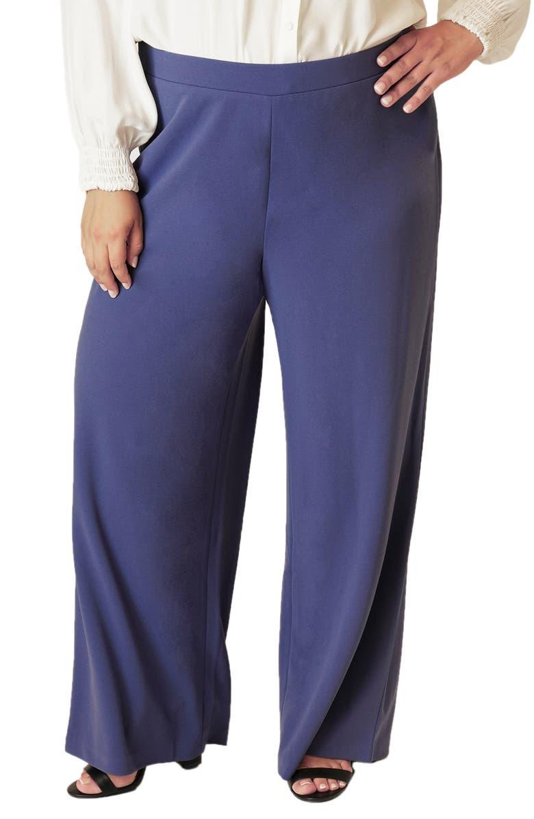 MARÉE POUR TOI High Waist Wide Leg Pants, Main, color, BLUE