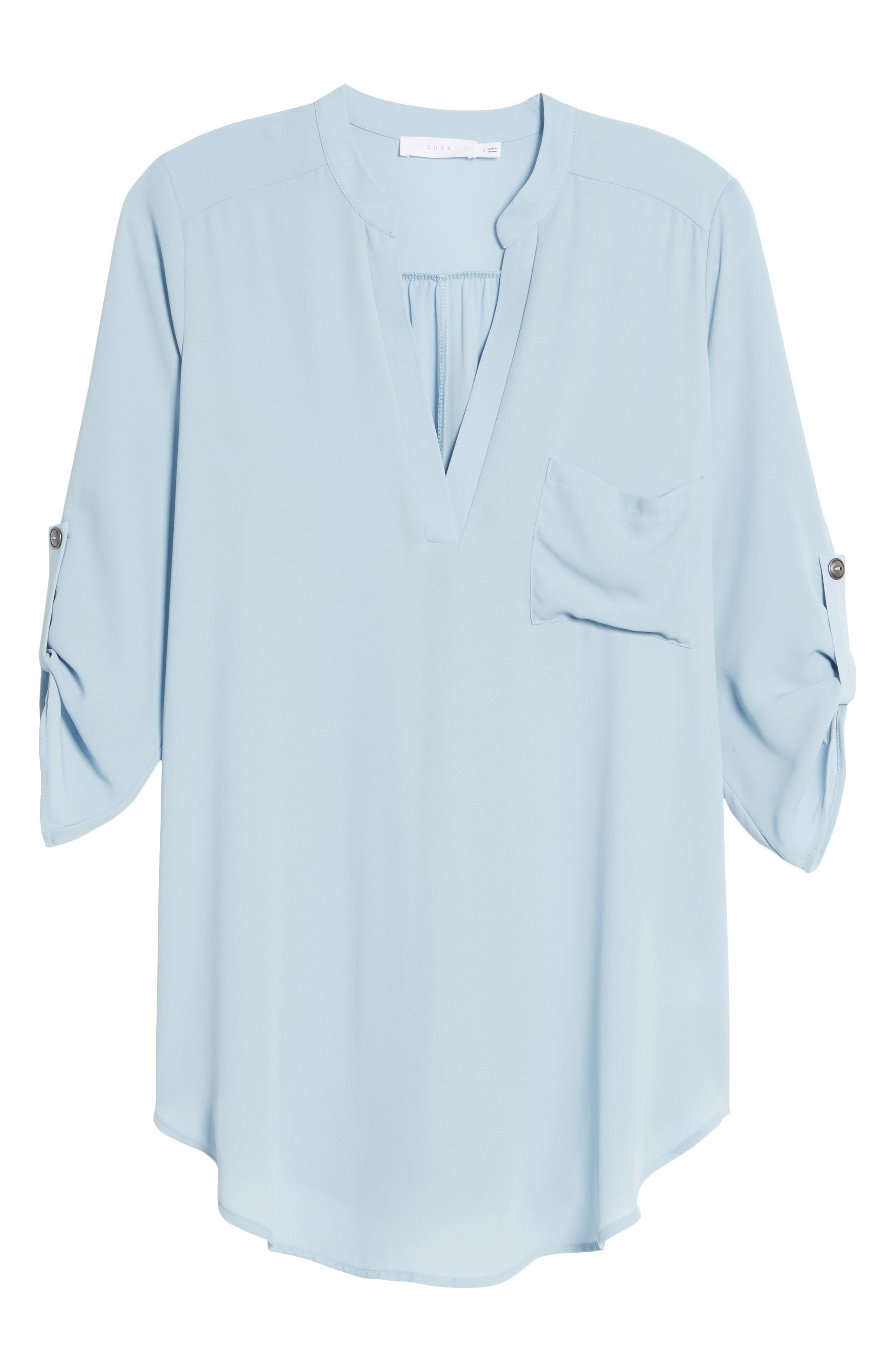 ,                             Perfect Roll Tab Sleeve Tunic,                             Alternate thumbnail 103, color,                             433
