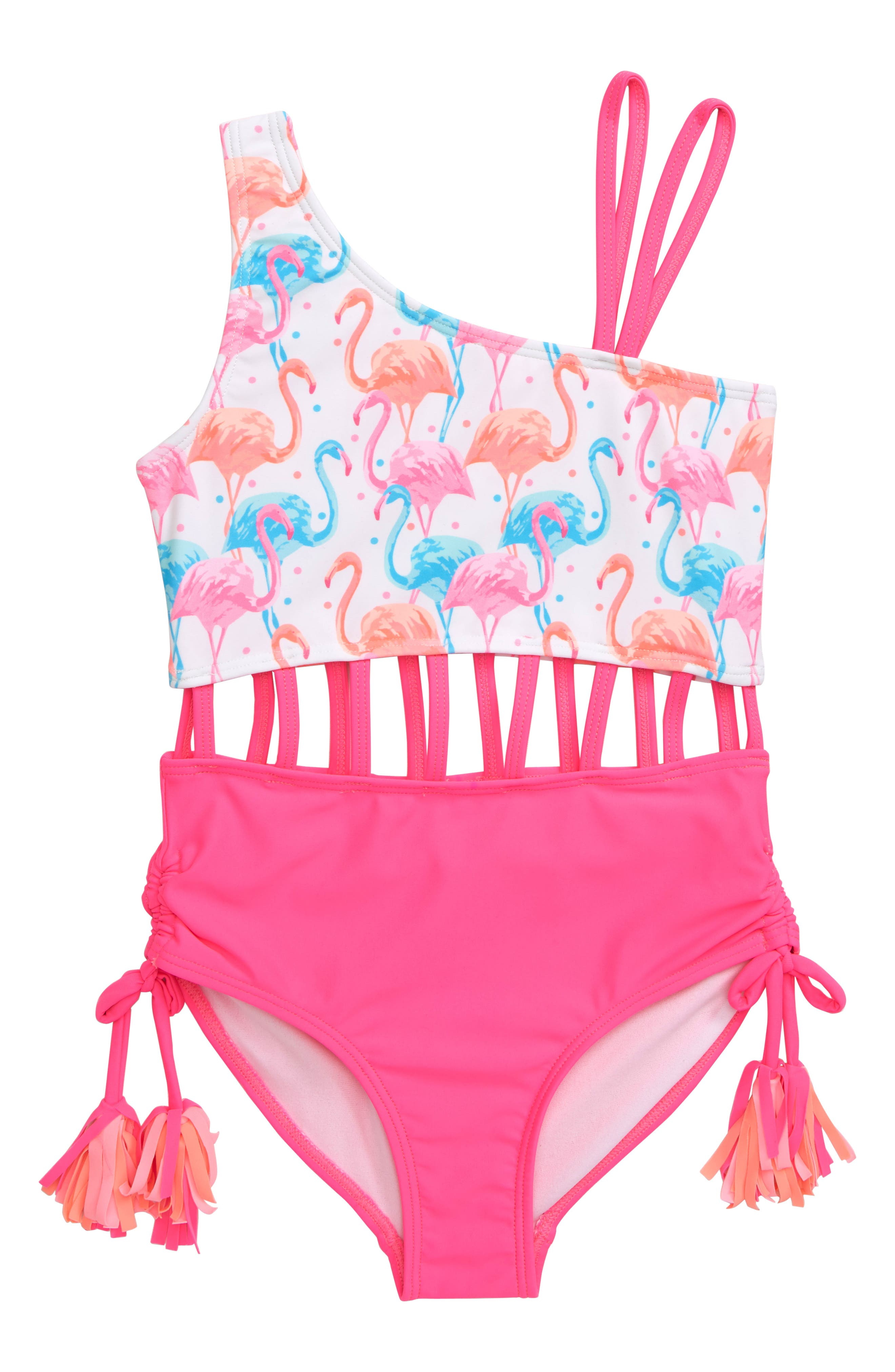 Girls Kate Mack Flamingo OnePiece Swimsuit