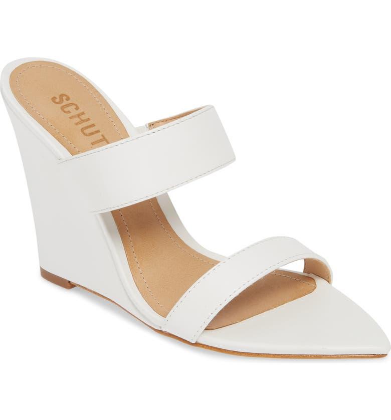 SCHUTZ Soraya Wedge Slide Sandal, Main, color, 100