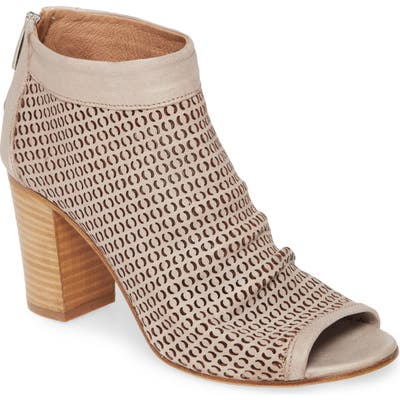 Ron White Shyla Perforated Peep Toe Bootie - Brown