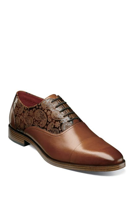 Image of Stacy Adams Quince Paisley Cap Toe Leather Oxford