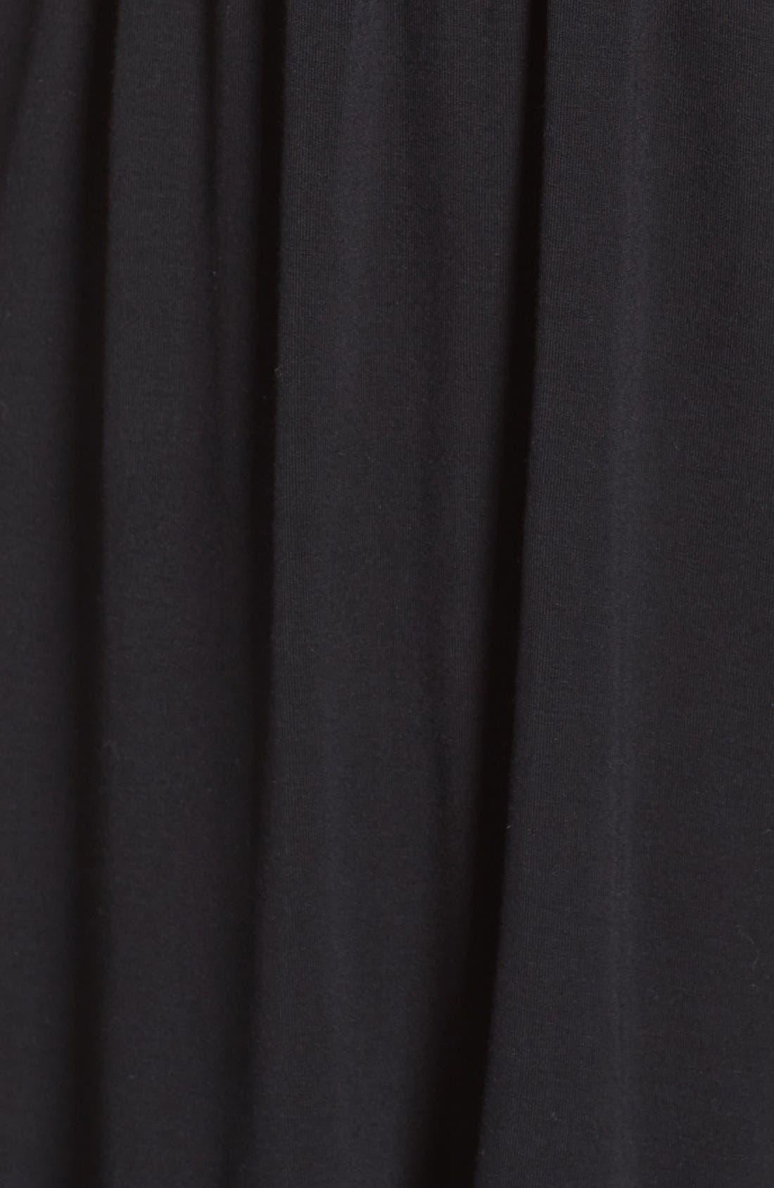 ,                             Lace Racerback Jersey Chemise,                             Alternate thumbnail 5, color,                             BLACK
