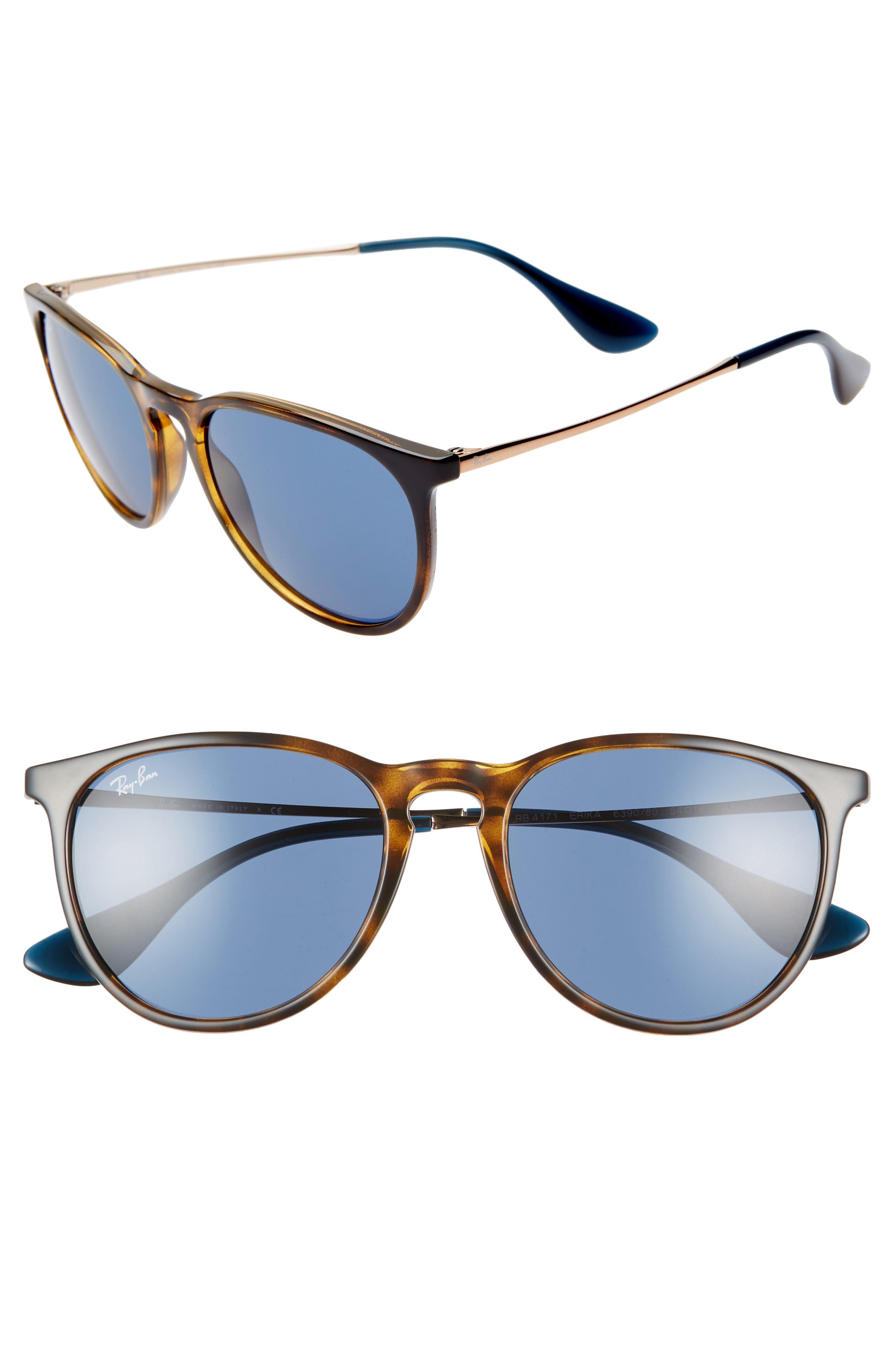Ray-Ban Erika Classic 5m Sunglasses - Havana/ Blue Solid