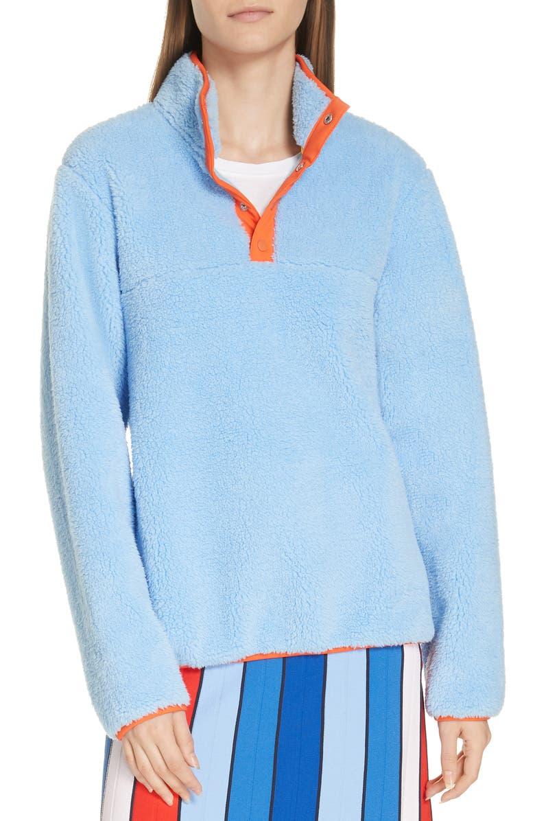 TORY SPORT Snap Fleece Pullover, Main, color, 497