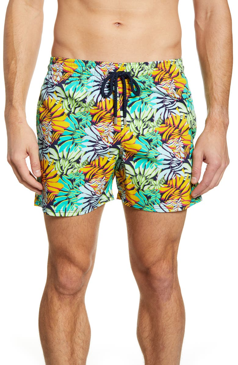 VILEBREQUIN Jungle Superflex Swim Trunks, Main, color, 401