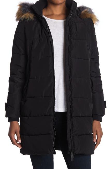Image of Bernardo Heavy Weight Parka w/ Faux Fur Hood