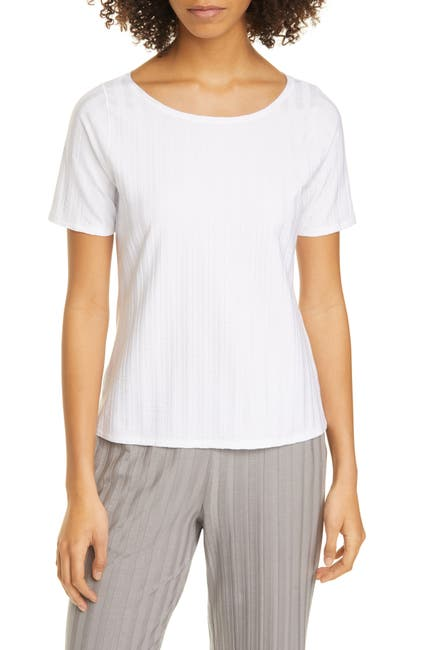 Image of Eileen Fisher Ballet Neck Short Sleeve Top