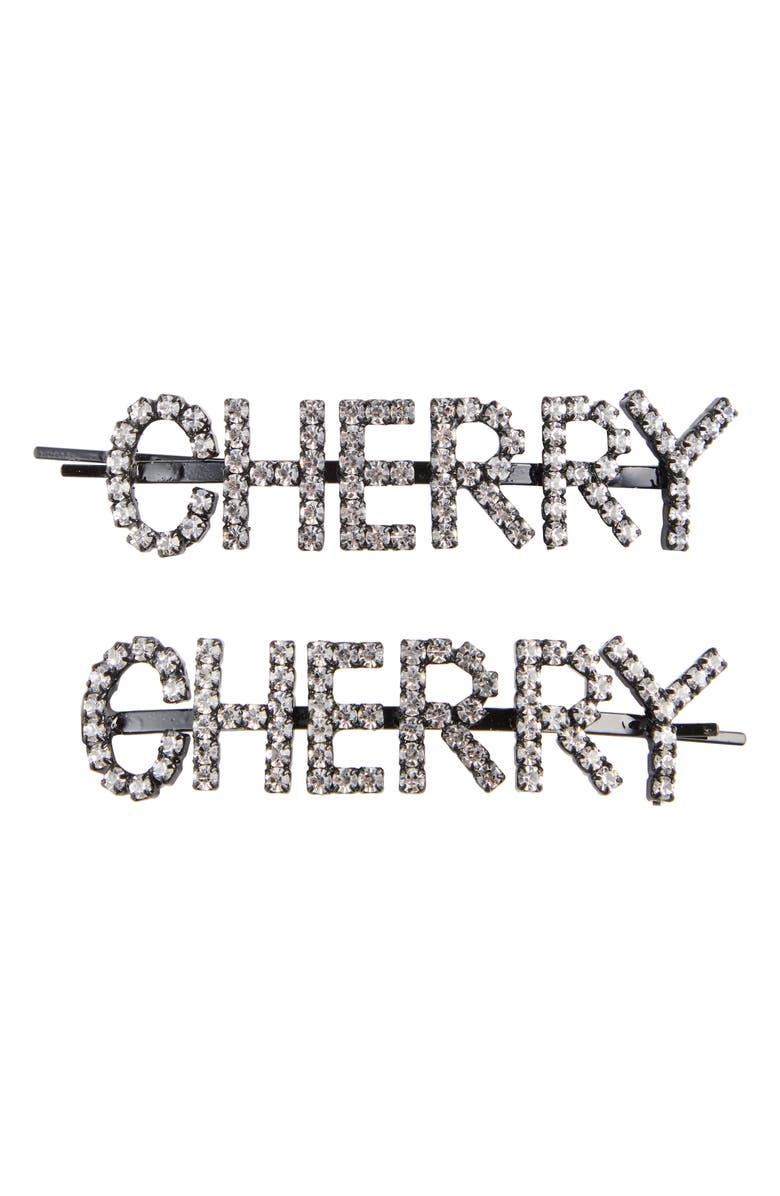 ASHLEY WILLIAMS Cherry Hair Pins, Main, color, 040