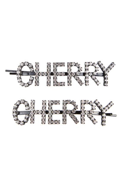 Ashley Williams Hair-accessories CHERRY HAIR PINS