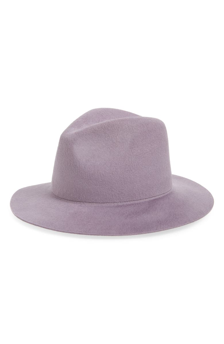 NOAKE Faye Brushed Wool Fedora, Main, color, 500
