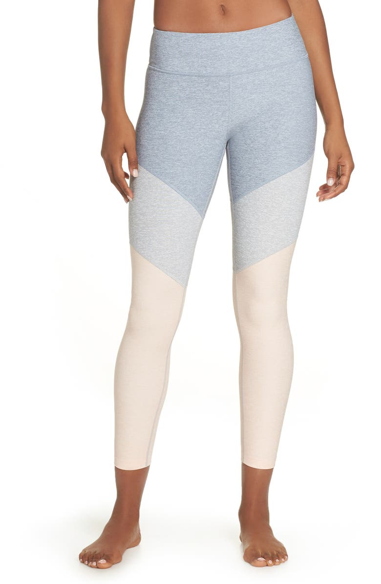 OUTDOOR VOICES Springs Ankle Leggings, Main, color, LAKE/ DOVE/ ROSE QUARTZ