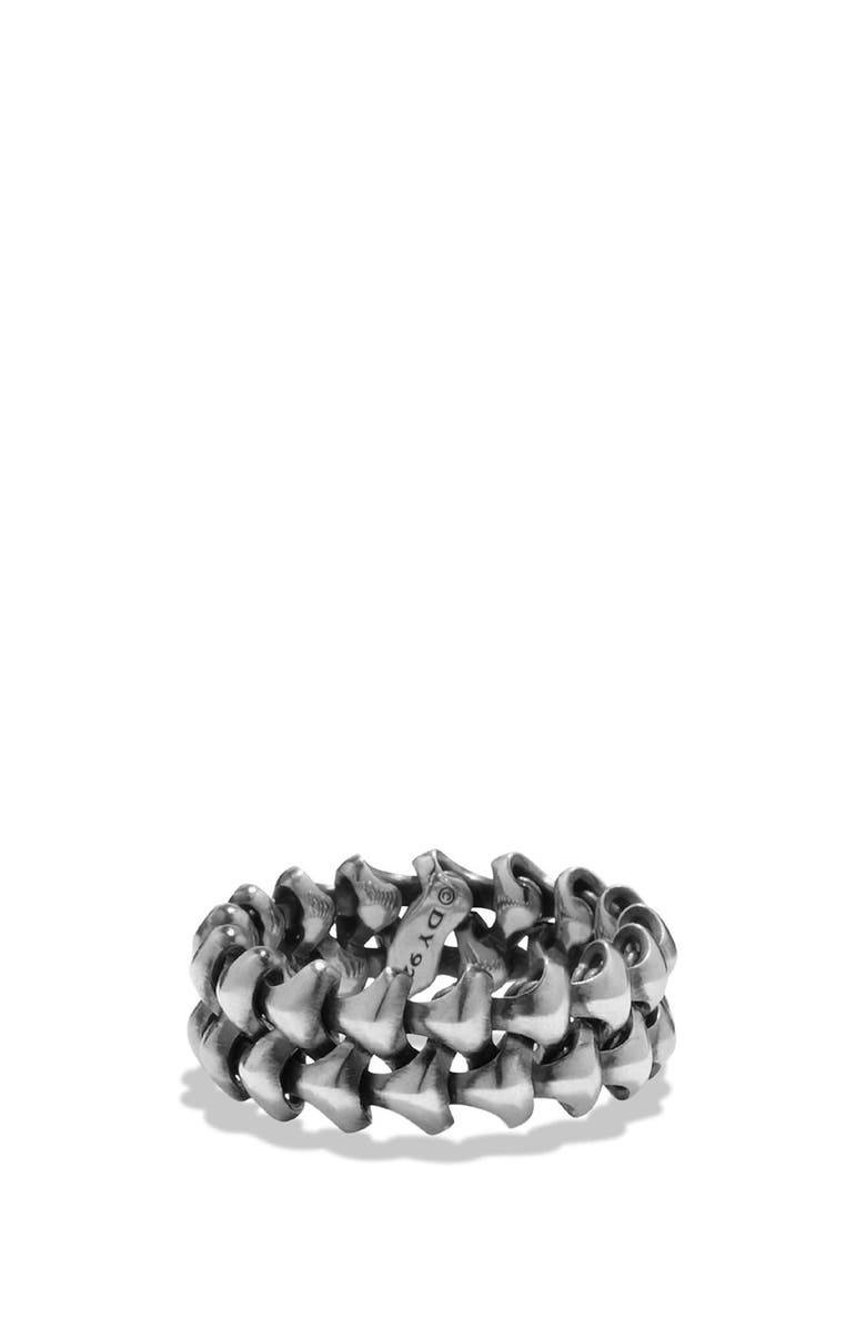 DAVID YURMAN 'Armory' Band Ring, Main, color, SILVER